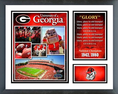 Georgia Bulldogs Framed Milestones & Memories