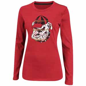"Georgia Bulldogs Women's Majestic ""State Colors"" Long Sleeve Shirt - Small"
