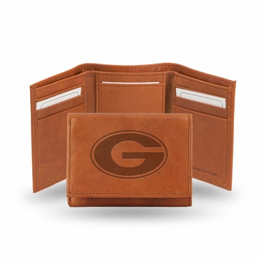 Georgia Embossed Leather Trifold Wallet