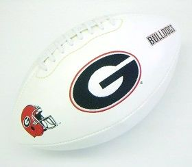 Georgia Bulldogs Full Size Embroidered Signature Series Football