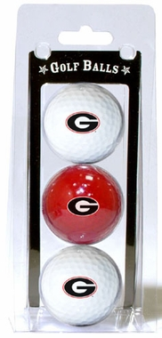 Georgia Set of 3 Multicolor Golf Balls