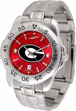Georgia Sport Anonized Men's Steel Band Watch
