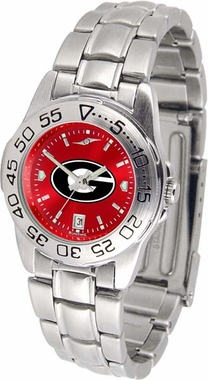Georgia Sport Anonized Women's Steel Band Watch