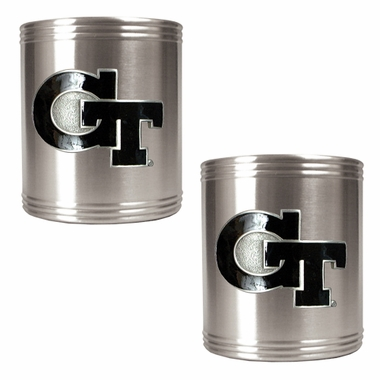 Georgia Tech 2 Can Holder Set