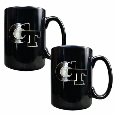 Georgia Tech 2 Piece Coffee Mug Set