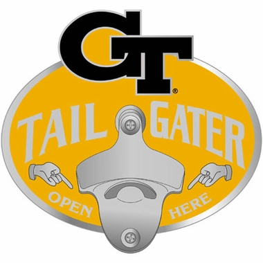 georgia tech bottle opener hitch cover. Black Bedroom Furniture Sets. Home Design Ideas