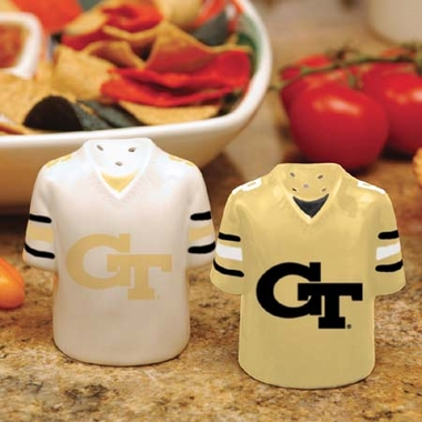 Georgia Tech Ceramic Jersey Salt and Pepper Shakers