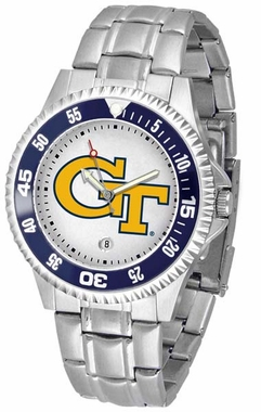 Georgia Tech Competitor Men's Steel Band Watch