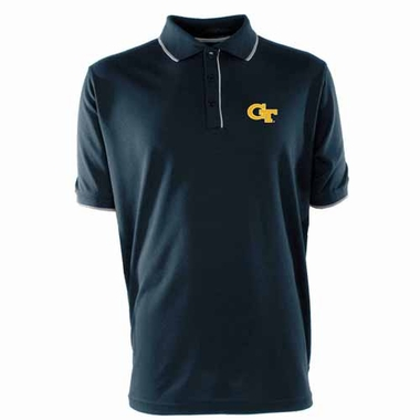 Georgia Tech Mens Elite Polo Shirt (Color: Navy)