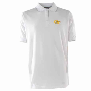 Georgia Tech Mens Elite Polo Shirt (Color: White)