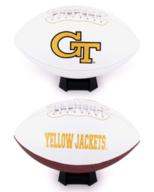 Georgia Tech Yellow Jackets Full Size Embroidered Signature Series Football