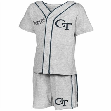Georgia Tech Infant Batter Up Shirt & Shorts Set
