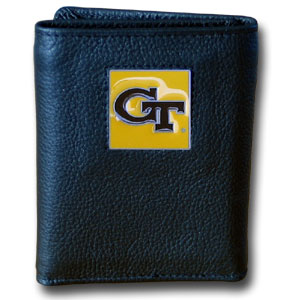 Georgia Tech Leather Trifold Wallet (F)