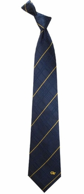 Georgia Tech Oxford Stripe Woven Silk Necktie