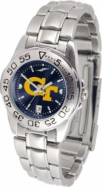 Georgia Tech Sport Anonized Women's Steel Band Watch