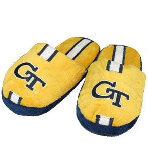 Georgia Tech YOUTH Team Stripe Slide Slippers - X-Large