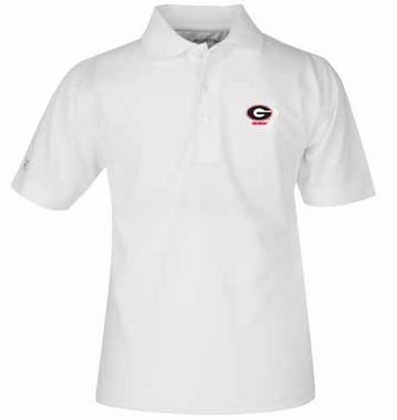 Georgia YOUTH Unisex Pique Polo Shirt (Color: White)