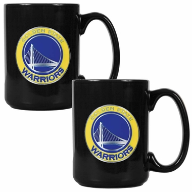 Golden State Warriors 2 Piece Coffee Mug Set