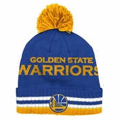 2d863192ed3076 Golden State Warriors Adidas Wordmark Cuffed Premium Knit Hat w/ Pom