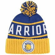 019442eb353f2d Golden State Warriors Mitchell & Ness High 5 Cuffed Knit Hat w/Pom - Blue