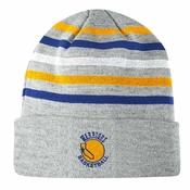da798b0c219de2 Golden State Warriors Mitchell & Ness Team Stripes Cuffed Premium Knit Hat