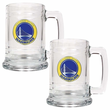 Golden State Warriors Set of 2 15 oz. Tankards