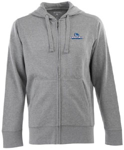 Gonzaga Mens Signature Full Zip Hooded Sweatshirt (Color: Silver) - X-Large