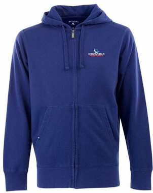 Gonzaga Mens Signature Full Zip Hooded Sweatshirt (Color: Royal)
