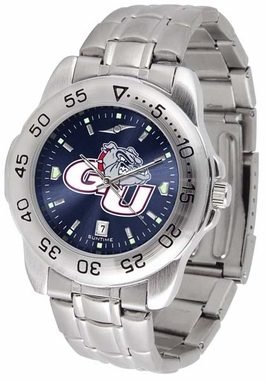 Gonzaga Sport Anonized Men's Steel Band Watch