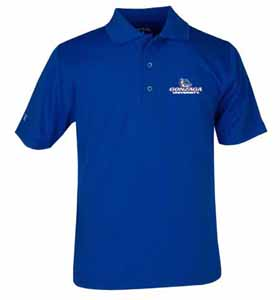 Gonzaga YOUTH Unisex Pique Polo Shirt (Color: Blue) - Small