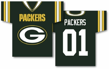Green Bay Packers 2 Sided Jersey Banner Flag (F)