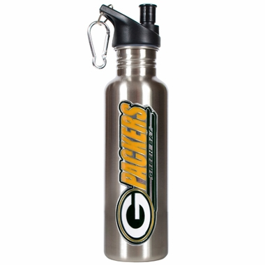 Green Bay Packers 26oz Stainless Steel Water Bottle (Silver)