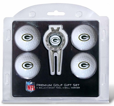 Green Bay Packers 4 Ball and Divot Tool Set