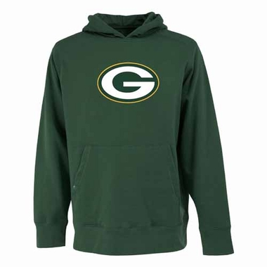 Green Bay Packers Big Logo Mens Signature Hooded Sweatshirt (Color: Green)