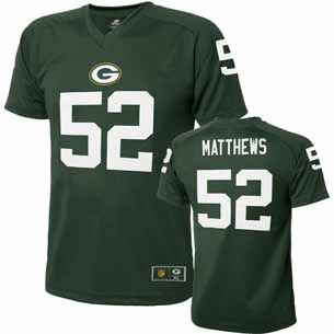 Green Bay Packers Clay Matthews Youth Performance T-shirt - Small