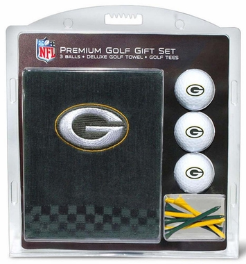 Green Bay Packers Embroidered Towel Golf Gift Set
