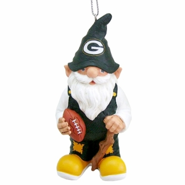 Green Bay Packers Gnome Christmas Ornament