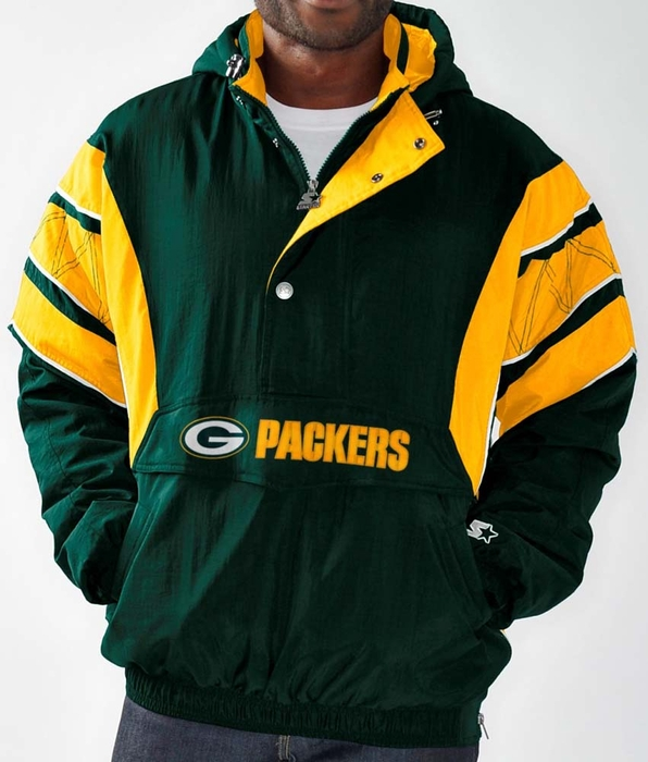 Green Bay Packers Men s Starter Impact 1 2 Zip Pullover Hooded Jacket 7f9c444bf