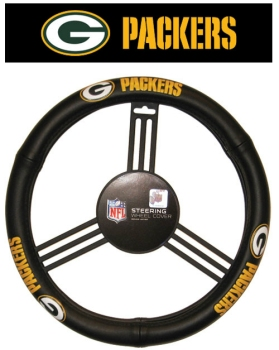 Green Bay Packers Steering Wheel Cover - Leather