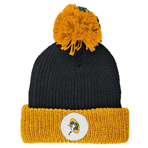 72187995fea Green Bay Packers Mitchell   Ness Vintage Retro Cuffed Knit Hat w  Pom