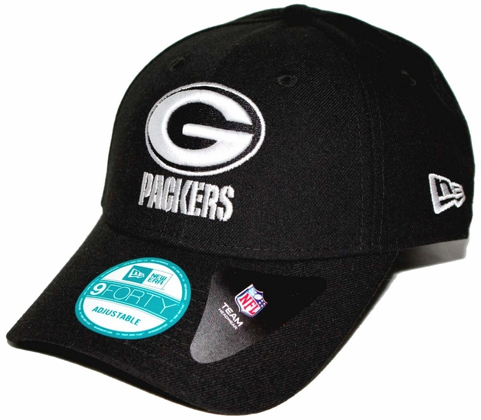 Green Bay Packers New Era 9Forty The League Adjustable Hat - Black 319b203568c