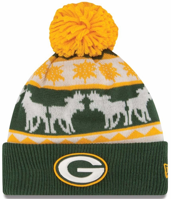 b53156ce2ec ... new style green bay packers new era mooser cuffed knit hat 2e1bd b6cba