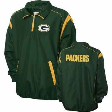 Green Bay Packers NFL Red Zone 1/4 Zip Green Jacket