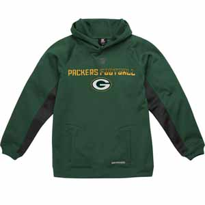 Green Bay Packers NFL YOUTH Endurance Performance Pullover Hooded Sweatshirt - Small