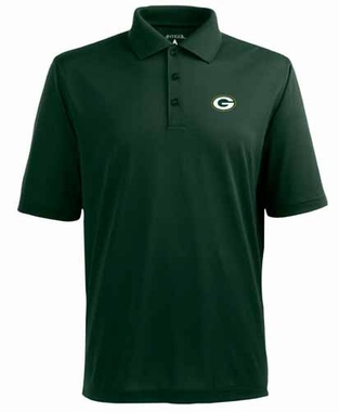 Green Bay Packers Mens Pique Xtra Lite Polo Shirt (Color: Green)