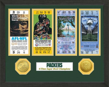 Green Bay Packers Green Bay Packers SB Championship Ticket Collection