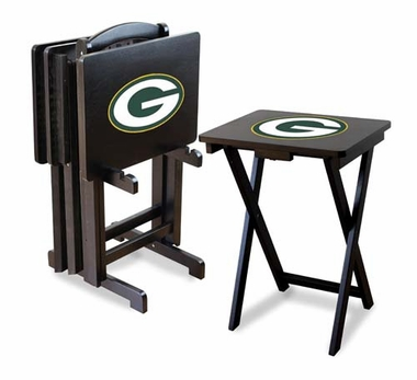 Green Bay Packers Set of 4 Folding TV Trays
