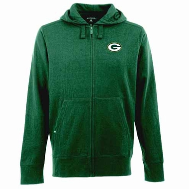 Green Bay Packers Mens Signature Full Zip Hooded Sweatshirt (Color: Green)