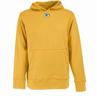 Green Bay Packers Mens Signature Hooded Sweatshirt (Color: Gold)
