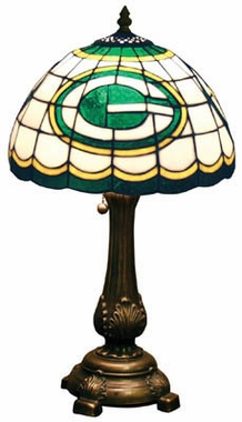 Green Bay Packers Stained Glass Table Lamp